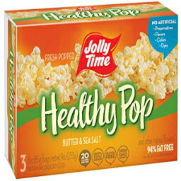 Jolly Time Healthy Pop Butter 94% Fat Free Weight Watchers Microwave Popcorn, 3-Count Boxes (Pack of 12)