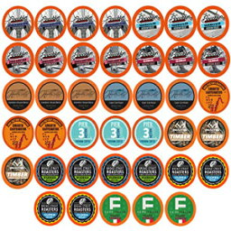 Two Riversミディアムローストバラエティパックコーヒーポッド、2.0 Keurig K-Cup Brewersと互換性、40カウント Two Rivers LLC Two Rivers Medium Roast Variety Pack Coffee Pods, Compatible with 2.0 Keurig K-Cup Brewers, 40 Count