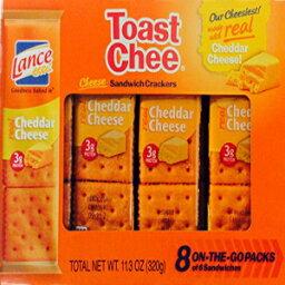 ランストーストチーチェダーチーズサンドイッチクラッカー6サンドイッチの外出先での8パック11.3オンス(3パック) Lance Toast Chee Cheddar Cheese Sandwich Crackers 8 On-The-Go Packs of 6 Sandwiches 11.3 oz (Pack of 3)