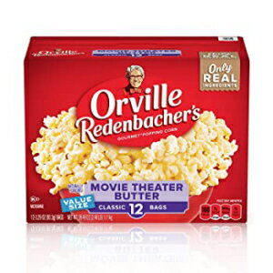 スイーツ・お菓子, その他 Orville Redenbachers Movie Theater Butter Microwave Popcorn, 3.29 Ounce Classic Bag, 12-Count