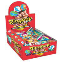 Topps ring pop twisted fruit pop candy - 24 pieces/pack