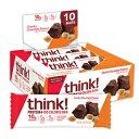 思う!(thinkThin)Protein + 150カロリーバー-分厚いチョコ