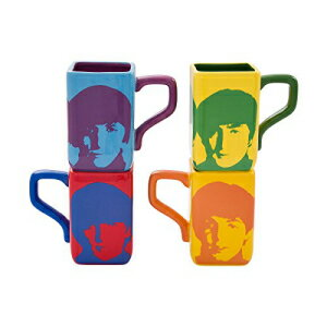 Vandor 72054 The The Beatles Square Mug Set, Mul画像