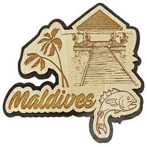 Printtoo Maldives Engraved Fridge Magnet Souvenir W画像