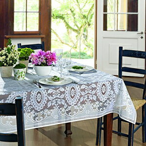 AdonisUSA Venezuela White Lace Rectangle Tablecloth.