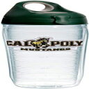 Tervis Cal Poly Mustangs Logo Insulated Tumbler with Emblem and Hunter Green with Gray Lid, 24oz Water Bottle, Clear