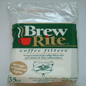 Brew Rite Wrap Around Percolator Coffee Filters 55 Count画像