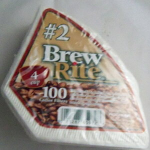 Brew Rite 4-Cup Cone Coffee Filter #2 Disposable, 100-count画像