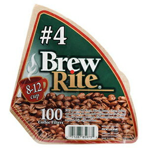 #4 Cone Coffee Filter, 100-Count-Brew Rite-46-101W/24 by Brew Rite画像