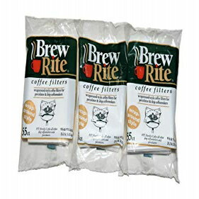 Brew Rite Rockline Wrap Around Percolator Coffee Filters (Pack of 3)画像