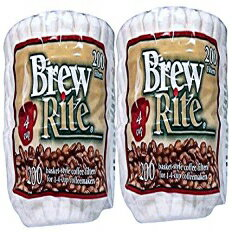 Brew Rite 4 Cup Coffee Basket Disposable Filters - 400 Ct画像