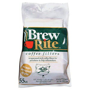 Brew Rite Wrap Around Percolator Coffee Filter 55 Ct (Pack of 2)画像