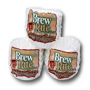 Brew Rite 4 Cup Coffee Basket Disposable Filters - 600 Ct画像