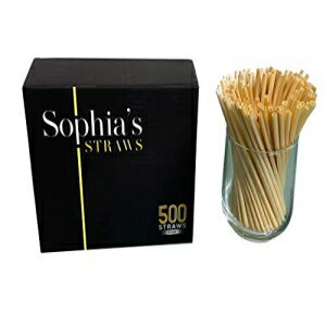 Sophia's straws Natural Straws made out of Hay by Sophia's Straws 5 inch I 500 Straws - All natural, eco-friendly and disposable Hay Straws画像