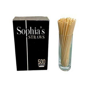 Sophia's straws Natural Straws made out of Hay by Sophia's Straws 7.5 inch I 500 Straws - All natural, eco-friendly and disposable Hay Straws画像