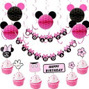 Minnie Mouse Birthday Decorations for Girls with P