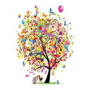 Dogstar Pics Party Tree With Dog & Cat Friends Fine Art Photo - 11x14 Unframed Art Print - Makes a Great Party Gift or Nursery or Wall Art for Both Boys and Girls - Gift Under $25