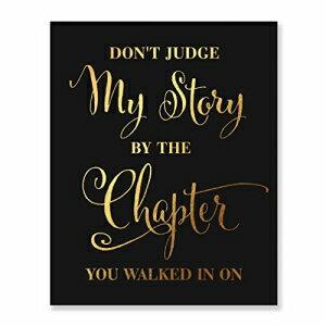 壁紙・装飾フィルム, その他 Dont Judge My Story By The Chapter Gold Foil P