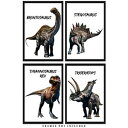Buzz Unplugged Dinosaur Wall Art Decor Prints: Set of Four 8x10 Unframed Pictures - Unique Room Decor for Boys, Girls, Men & Women Makes A Great Educational Gift for all ages for Under $20!