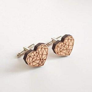 Heart Geometric Cufflinks, modern art jewelry for