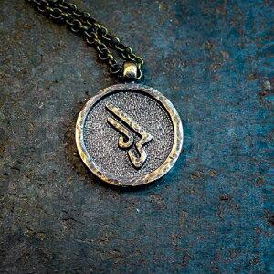 ジュエリー・アクセサリー, その他 Final Fantasy XIV Machinist job brass pendant keychain - Final Fantasy 14 FFXIV