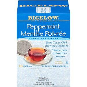 茶葉・ティーバッグ, ハーブティー Bigelow Peppermint Herbal Tea Pods 16-Count Box (