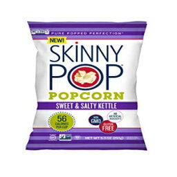 SKINNYPOP Sweet&Salty Kettle Popcorn、グルテンフリーポップコーン、非GMO、人工成分なし、ヘルシースナック、5.3オンス SKINNYPOP Sweet & Salty Kettle Popcorn, Gluten Free Popcorn, Non-GMO, No Artificial Ingredients, Healthy Snack, 5.