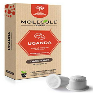 コーヒー, その他 Molecule Coffee - Uganda Coffee Pods - 10 Nespresso Compatible Compostable Pods - for OriginalLine Machines 100 Arabica Eco-Friendly Capsules Medium Roast Espresso Lungo Ristretto