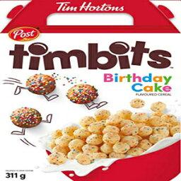 ポストティムホートンズティムビットバースデーケーキフレーバーシリアル326グラム1箱輸入 Post Tim Hortons Timbits Birthday Cake Flavored Cereal 326 grams One Box Imported