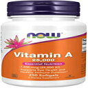 NOW Supplements, Vitamin A (Fish Liver Oil) 25