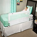 Regalo Hideaway 54-Inch Extra Long Bed Rail Guard, with Reinforced Anchor Safety System