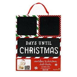 Tiny Ideas Countdown to Christmas Photo Sharing Chalkboard Blocks, Holiday Block Set, Red/Green/White/Black