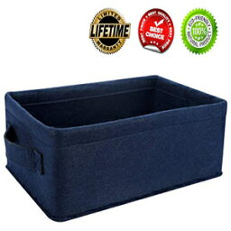KWLET Navy Blue Storage Basket Bins Small Decorative Baskets Storage Cubes for Cellphone Earphone Chargers Cables Make Up Shelf Fabric Drawers Storage Baskets Cute Storage Baskets
