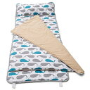 HESEAM for Kids Nap Mat,Features Built-in Blanket and Pillow,Perfect for Daycare and Preschool or Napping On-The-Go,Removable Pillow - Soft, Lightweight Mats, Easy Clean Toddler,3-7 Years - Whale