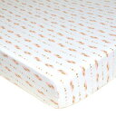 TL Care Fitted Crib Sheet for Standard Crib and Toddler Mattress, Gold and Pink Feather, for Girls