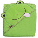 """Extra Large 40""""x30"""" Absorbent Hooded Towel, Green Frog, Frenchie Mini Couture"""