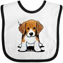 Inktastic - Beagle Baby Bib White/Black - KiniArt 3e7d