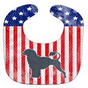 Caroline's Treasures Patriotic USA Baby Bib, Portuguese Water Dog, Large