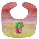 "Caroline's Treasures BB7361BIB Flowering Cactus Watercolor Baby Bib, 10 x 13"", multicolor"