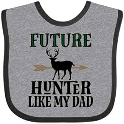 Inktastic - Hunting Future Hunter Like Dad Baby Bib Heather and Black 33946