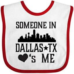 Inktastic - Dallas Texas Someone Loves Me Baby Bib White/Red 35540