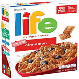 Quaker Lifeシナモンシリアル、13オンスボックス、3カウント Visit the Quaker Store Life Cereal, Cinnamon, Life Breakfast Cereal, Cinnamon, 13oz Boxes (3 Pack)画像