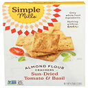 Visit the Simple Mills Store 4.25 Ounce (Pack of 1), Tomato & Basil, Simple Mills Almond Flour Crackers, Sundried Tomato & Basil, Gluten Fre