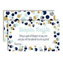 Amanda Creation Polka Dot Blue & Gold Themed Diaper Raffle Tickets for Boy Baby Showers, 20 2