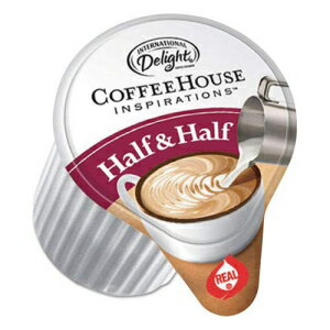コーヒー, その他 Marjack International Delight 102042 Coffee House Inspirations Half Half, .375oz, 180Carton