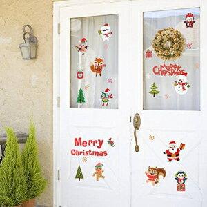 BIBITIME Sayings Merry Christmas Wall Quotes Trees Bird Fox Santa Owls Squirrel Penguins Bear Snowman Vinyl Decal Snowflakes Window Sticker for Nursery Bedroom Kids Room Decor Shop Showcase DIY Decals