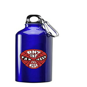 Hat Shark Anyone Can Wear The Mask Red Hero Parody Design 3D Color Printed 17 oz Stainless Steel Water Bottle Blue画像