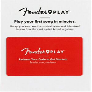 Fender Play – Instructional, Learn to Play Guitar Lesson Platform for Beginners – 3 Month Prepaid Gift Card