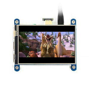 XYG-Raspberry Pi 4inch HDMI LCD (H), 4 inch Resistive Touch Screen Display IPS LCD 480x800 HDMI Interface Audio Output Compatible with All Revision of Raspberry Pi @XYGStudy画像