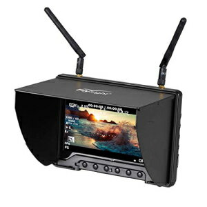 5.8Ghz FPV Monitor Black Pearl Flysight RC801 FPV Diversity Monitor7 Inch FPV Ground Monitor with DVR and HDMI Perfect FPV Performance Monitor for DJI Phantom Drone Inspire (RC801DSMA)画像